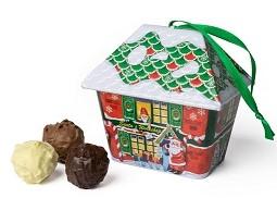 Pralinen Weihnachten Blechdöschen Trüffelhäuschen, Ihre Genuss-Agentur