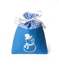 Weihnachtsschokolade Filzsäckchen königsblau, Ihre Genuss-Agentur