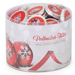 Weihnachtstaler Schokolade rot, Genuss-Agentur