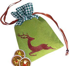 Weihnachtsschokolade Rentier-Filzsäckchen, Ihre Genuss-Agenturn, Ihre Genuss-Agentur