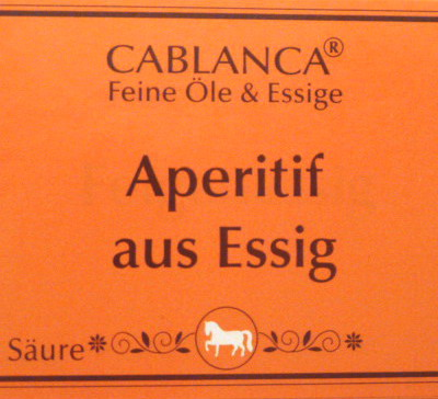 Aperitif aus Essig, Cablanca Feinkost, Ihre Genuss-Agentur