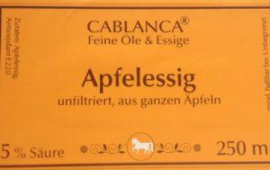 Apfelessig Cablanca Feinkost, Ihre Genuss-Agentur