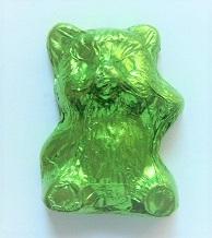 Bär Balu aus Schokolade grün, Ihre Genuss-Agentur