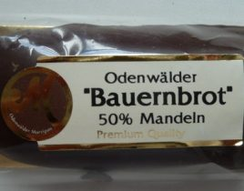 Odenwälder Bauernbrot Marzipan in Zartbitterschokolade, Genuss-Agentur