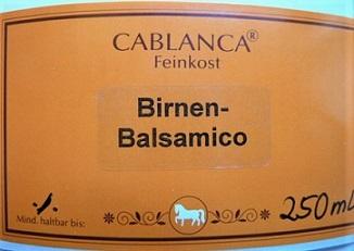 Birnenbalsamico Cablanca Feinkost, Ihre Genuss-Agentur