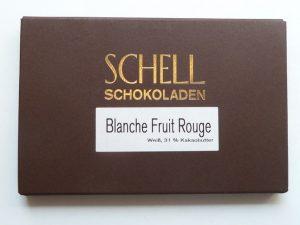 Schell Schokolade Blanche Fruit Rouge 50 g, Ihre Genuss-Agentur