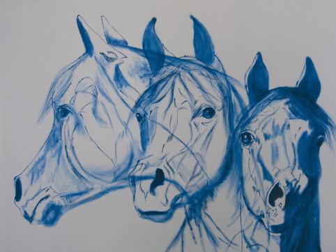 Kunstkarten Pferde, Pferde in Bewegung, art-cavallo