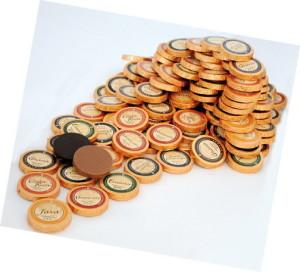 Golddublonen Vollmilchschokolade und Zartbitterschokolade, Ihre Genuss-Agentur
