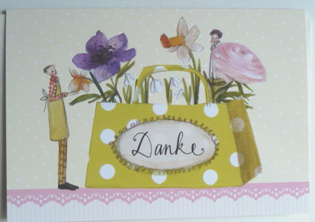 Hochwertige Grußkarte mit Umschlag, Danke, Genuss-Agentur