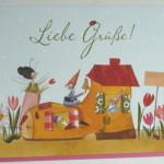 Hochwertige Grußkarten mit Umschlag, Liebe Grüße, Genuss-Agentur
