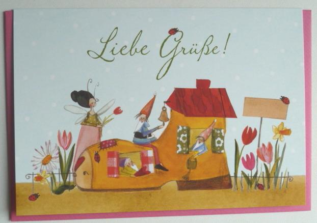Hochwertige Grußkarte mit Umschlag, Liebe Grüße, Genuss-Agentur