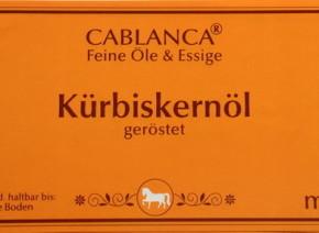 Kürbiskernöl Cablanca Feinkost, Genuss-Agentur