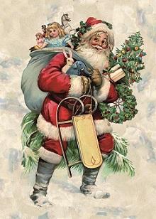 Weihnachtskarte – Weihnachtsmann, Ihre Genuss-Agentur