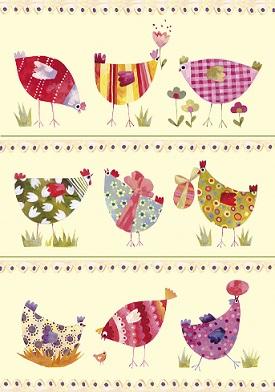 Grußkarte Ostern Verrückte Hennen, Ihre Genuss-Agentur
