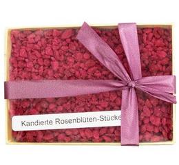 Kandierte Rosenblüten-Stücke, Ihre Genuss-Agentur