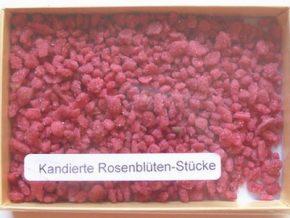 Kandierte Rosenblüten-Stücke 30 g Frankreich, Ihre Genuss-Agentur