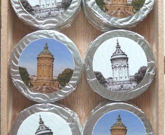 Schokolade Mannheimer Wasserturm-Taler im Holzkistchen, Ihre Genuss-Agentur