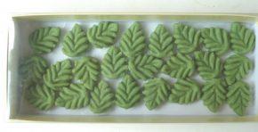 Blätter grün Dekor aus Marzipan, Ihre Genuss-Agentur