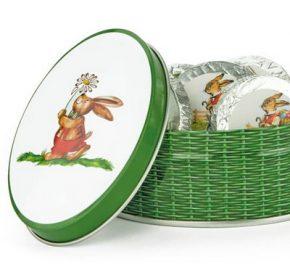 Schokolade Blechdose Anton Hoppel mit 5 Ostertaler, Ihre Genuss-Agentur