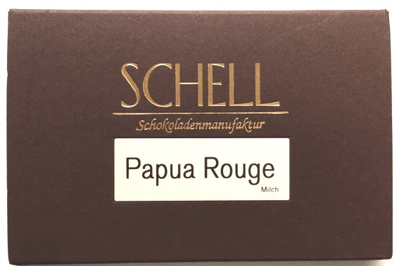 Schell Schokolade Papua Rouge 38 %, Ihre Genuss-Agentur