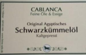 Schwarzkümmelöl Cablanca Feinkost, Genuss-Agentur
