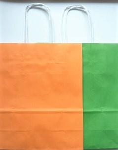 Papiertüte klein Orange Grün, Ihre Genuss-Agentur