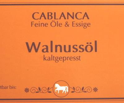 Walnussöl Cablanca Feinkost, Genuss-Agentur