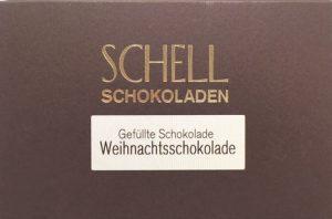 Weihnachtsschokolade Schell Schokoladenmanufaktur, Genuss-Agentur