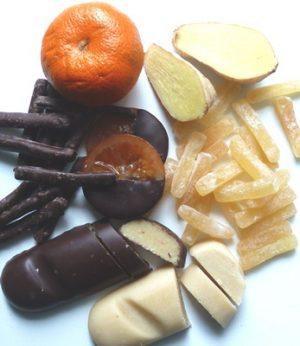 Köstlichkeiten mit Früchten - Ingwer - Marzipan